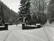 Corris Caravan Park and old road to Ceinws /...