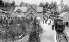 Dinas Station, early 1900s