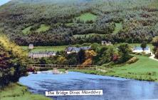 Dinas Mawddwy From River Dyfi, 1930s