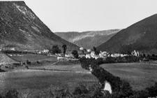 View of Dinas Mawddwy from South, late 1920s