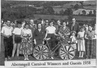 Aberangell Carnival Winners and Guests 1958
