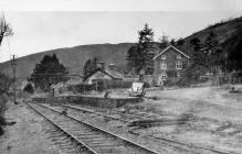 Aberangell Railway Station Wharf, 1952