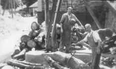 Outside Aberangell sawmill 1950