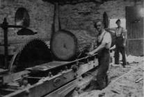 Bill Breese in Aberangell sawmill