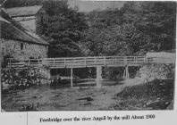 Footbridge over Angell About 1900