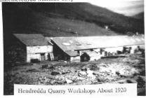 Hendreddu Quarry Workshops 1920