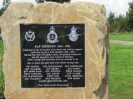 RAF Shobdon Memorial Plaque