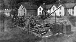 Timber yard in front of Walton Terrace, Aberangell