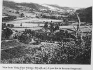 View of Aberangell from Clipiau, 1967