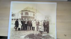 Tree planting ceremony, Lysaght Institute, Newport