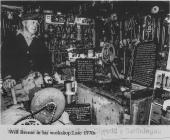 William Breese in his museum, 1970s