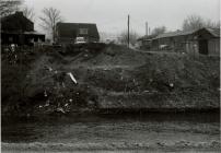 Preparing the land for the new Cambrian Bridge,...
