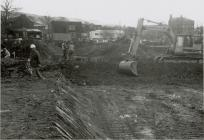 Excavation for building the new Cambrian Bridge...