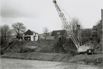 Preparing the land for the new Cambrian Bridge,...