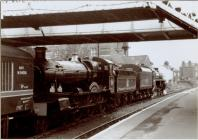 Steam locomotive at Newtown Railway Station