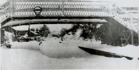 Snow on Newtown railway line
