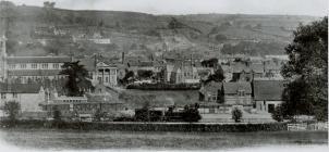 Panoramic view of Newtown and Railway