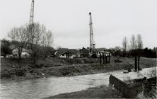 Construction of Cambrian Bridge, Newtown, 1992