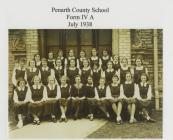 Penarth County School, Form IV A, July 1938