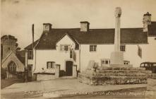 Sepia Postcard of 'The Old Stag Inn, Cross...