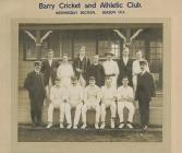 Barry Cricket and Athletic Club, Wednesday...