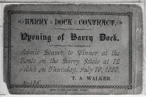 Opening of Barry Dock