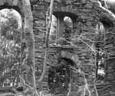 The ruins of the chapel at Ralltgoed quarry...