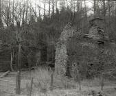 The ruins of the quarry workers cottages at...