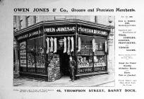 Owen Jones & Co. Provision Merchants.
