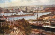 Postcard of Barry Docks