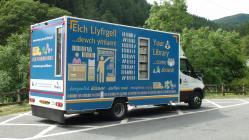 New Mobile library van at Ceinws Esgairgeiliog...