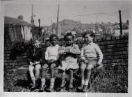 Travis Street 1951, L to R, Keith, Damonde Grey...