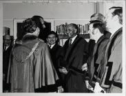 Councillor Darwin Hinds greeting HRH Prince...