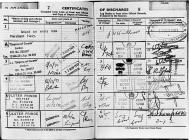 Merchant Seaman's Discharge Papers