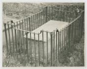 Tomb Grave Surrounded by Iron Railings