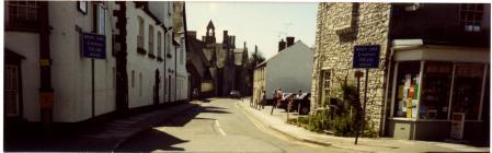 View down Church Street, Cowbridge ca 1990