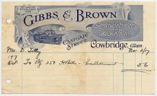 Gibbs and Brown printers, Cowbridge 1917