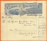 Gibbs and Brown printers, Cowbridge 1921