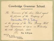 Cowbridge Grammar School 1938