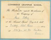 Cowbridge Grammar School 1944