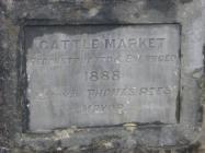 Cowbridge cattle market plaque 2004