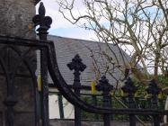 Holy Cross church, Cowbridge - iron gates 2004