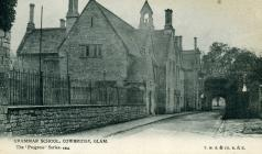 Cowbridge Grammar School and South Gate ca 1910
