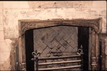 Cowbridge Grammar School - old fireplace 2005