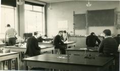 Cowbridge Grammar School biology lab. ca 1956