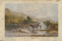 Welsh drovers - painting