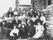 Cowbridge Girls' High School group ca 1900