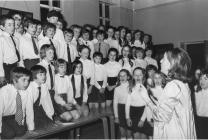 Y Bontfaen junior school choir, Cowbridge 1972