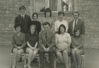 Y Bontfaen junior school staff, Cowbridge 1973