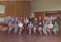 Y Bontfaen primary school staff, Cowbridge 1975